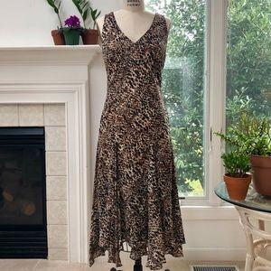 EUC ❤️ Lauren Ralph Lauren Print Georgette Dress